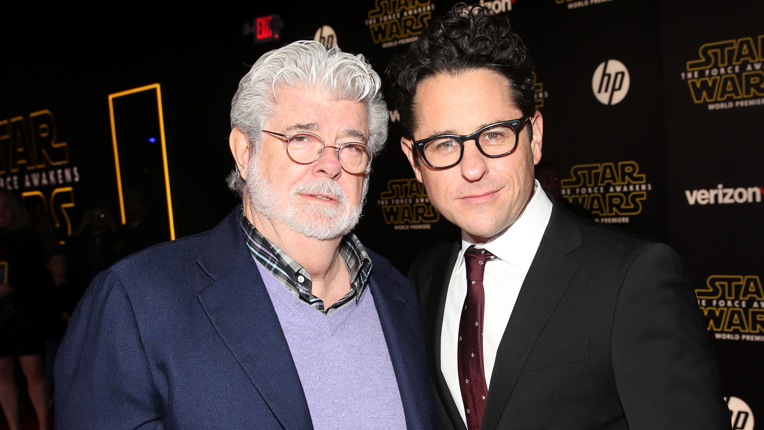 George Lucas and JJ Abrams - H 2015