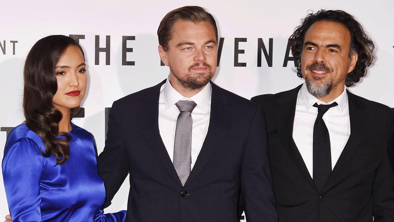 The Revenant Premiere - Grace Dove, Leonardo DiCaprio and  Alejandro Gonzalez Inarritu - H 2015