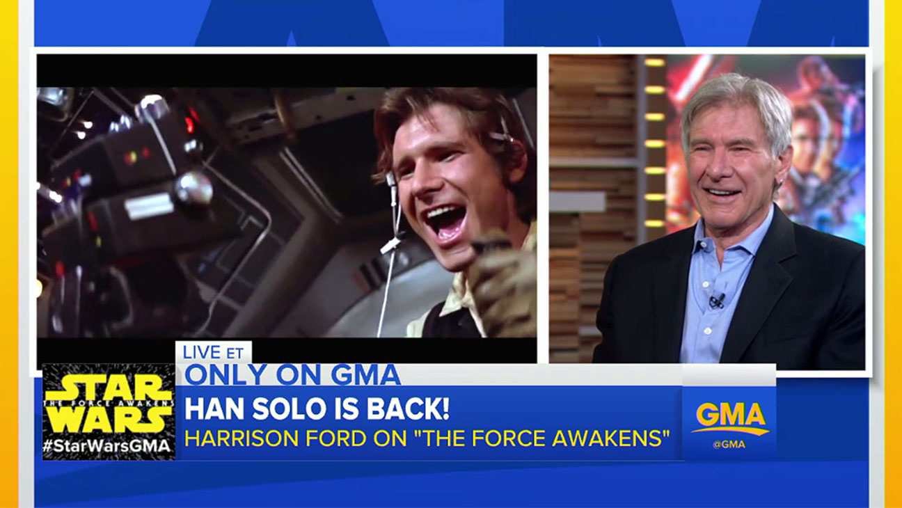 Harrison Ford's appearance on Good Morning Screen Shot 1- H 2015