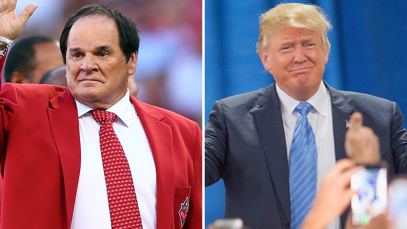Pete Rose and Donald Trump - H 2015