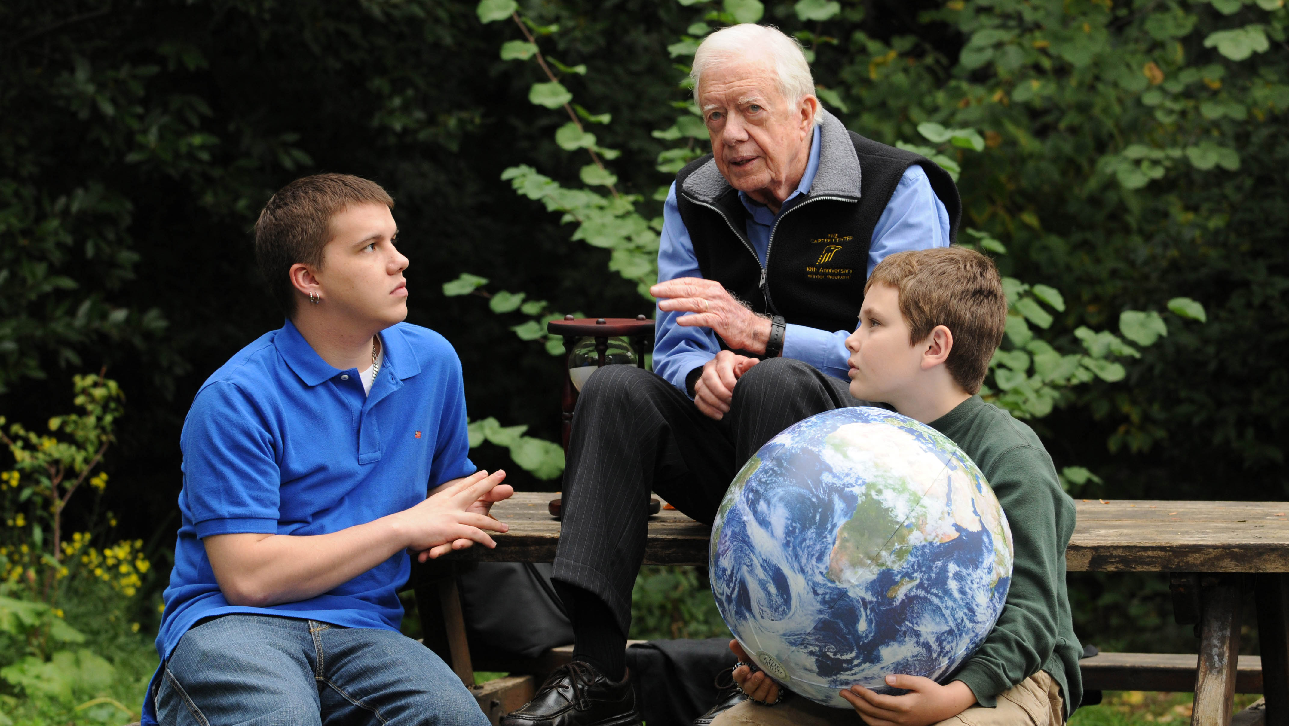 Jimmy Carter and grandsons - H