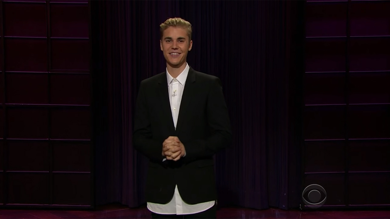 Justin Bieber Late Late Show Monologue H 2015