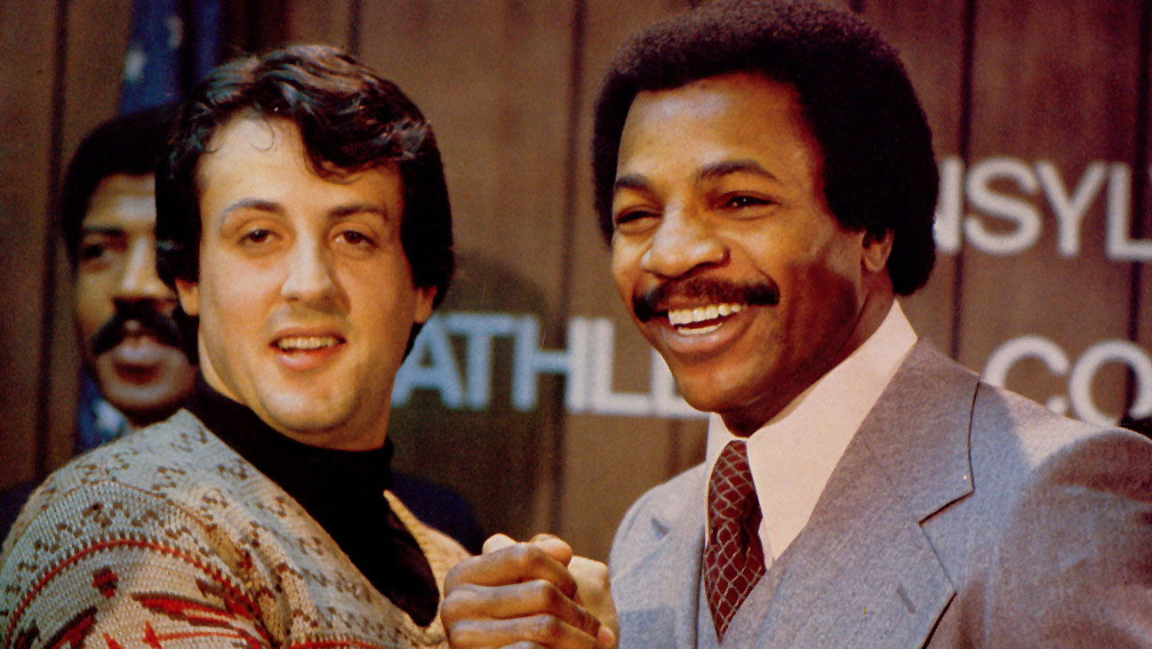 Rocky (1976) Sylvester Stallone (as Rocky), Carl Weathers (as Apollo) - H 2015