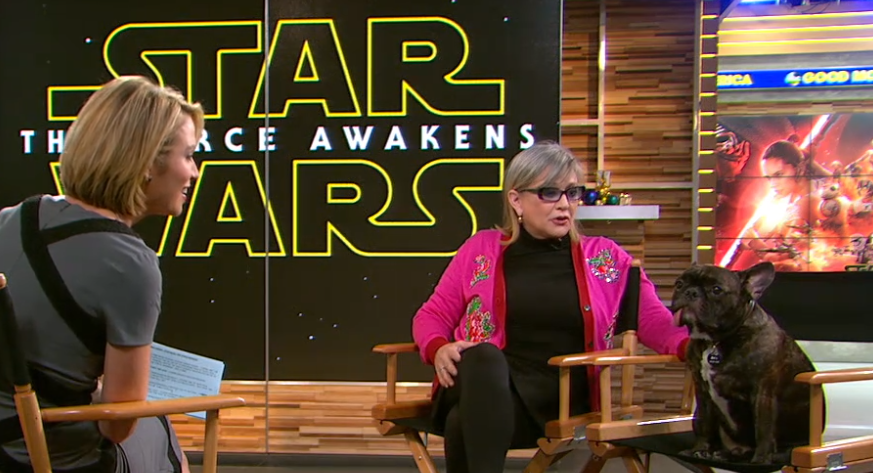 Carrie Fisher on GMA - H 2015