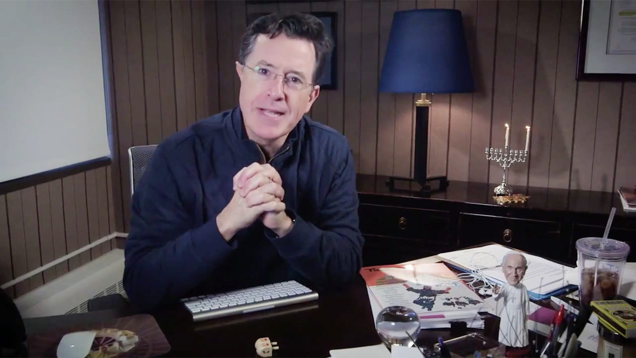 Stephen Colbert Celebrates The First Night Of Hanukkah - H 2015