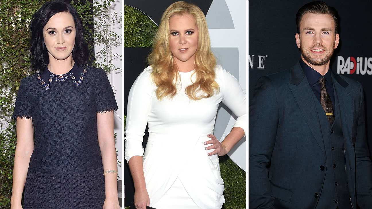 Katy Perry, Amy Schumer and Chris Evans Split - H 2016