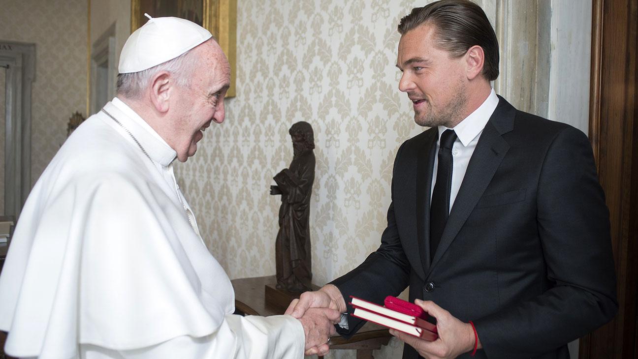 Leonardo DiCaprio has met Pope Francis at the Vatican - H 2016