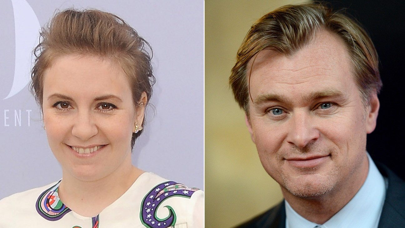 Lena Dunham and Christopher Nolan Split - H 2016
