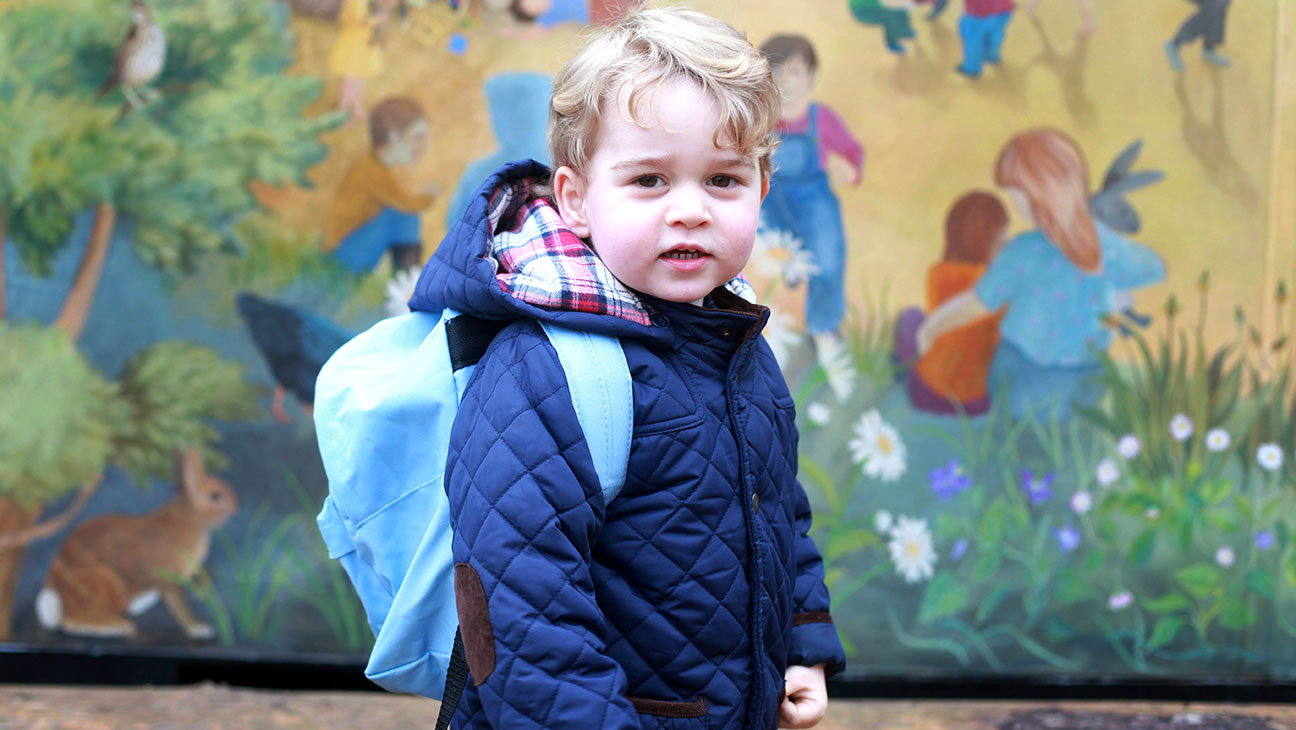 Prince George attends his first day at the Westacre Montessori nursery school  - H 2016