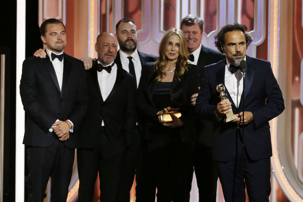 'The Revenant' Cast & Crew Golden Globes H 2016