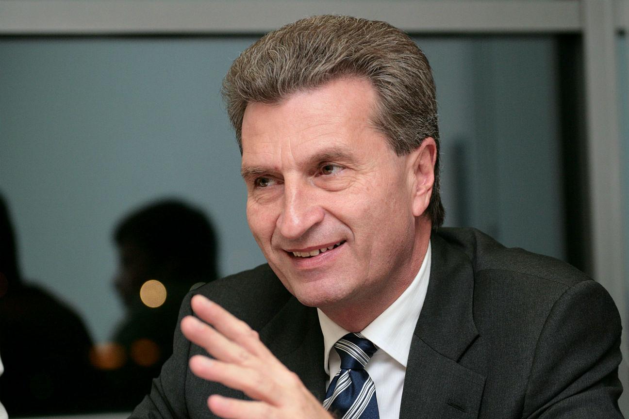 EU Commissioner Gunther Oettinger
