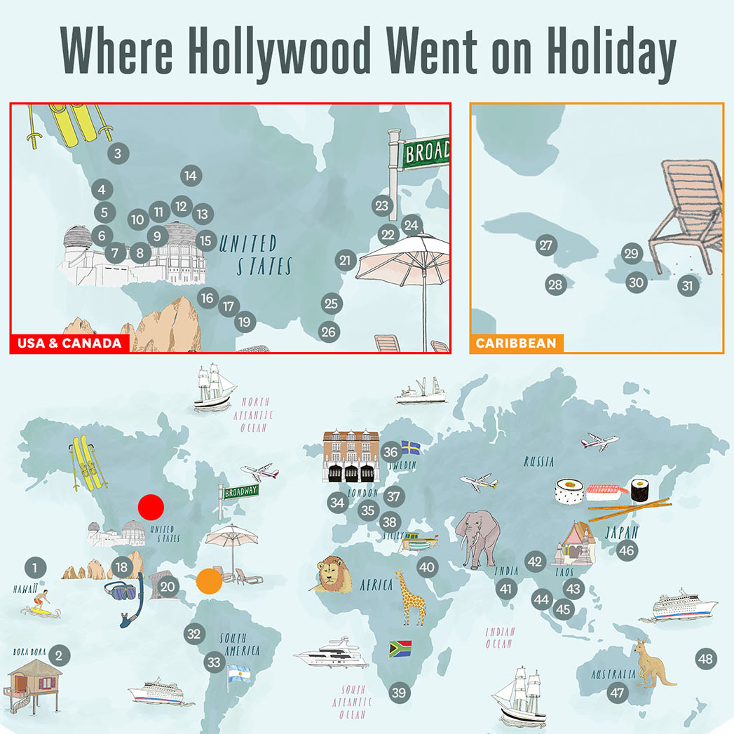 Where Hollywood went on Holiday - S 2015