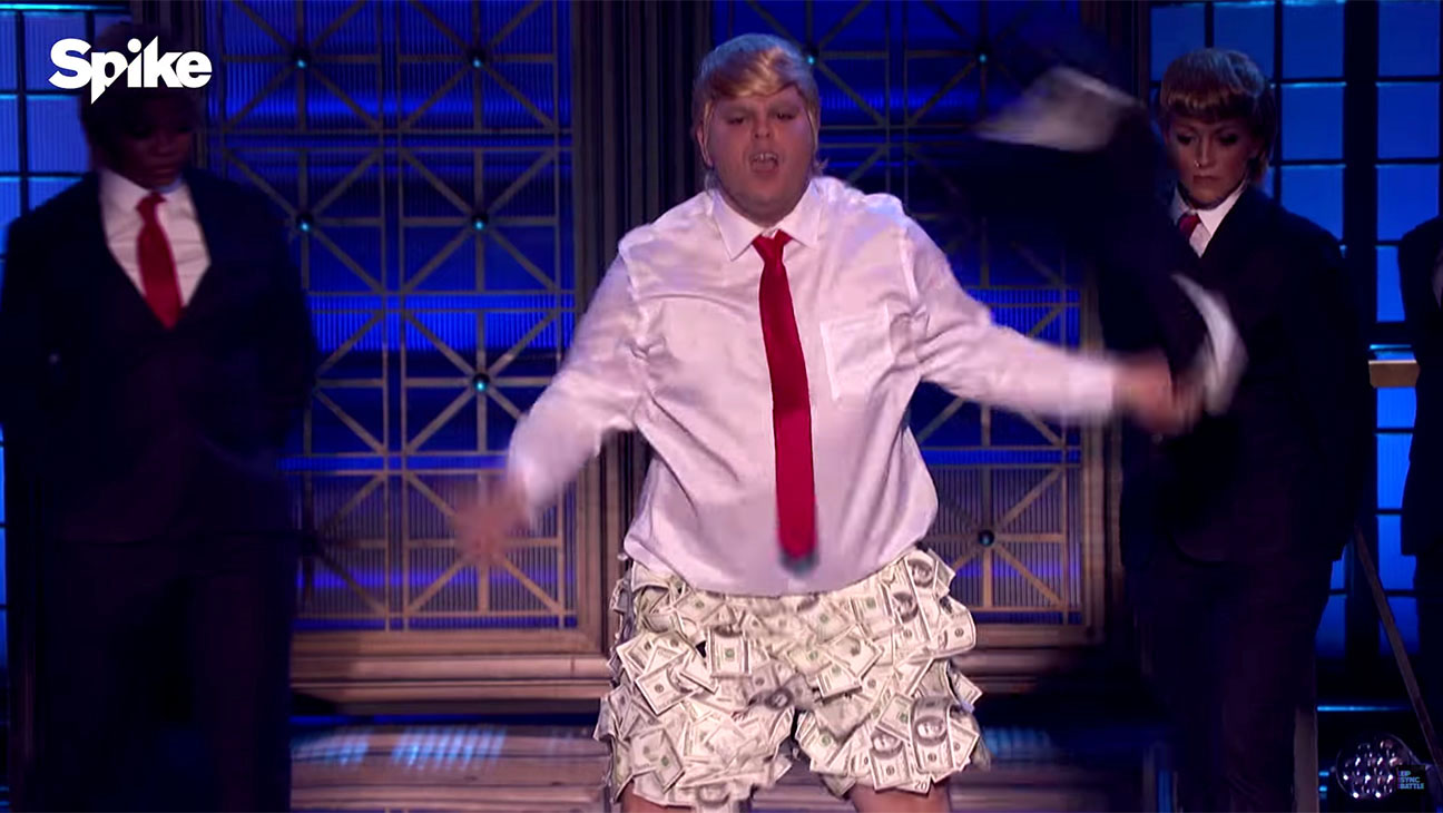 Josh Gad as Donald Trump  Lip Sync Battle Screen Shot- H 2016