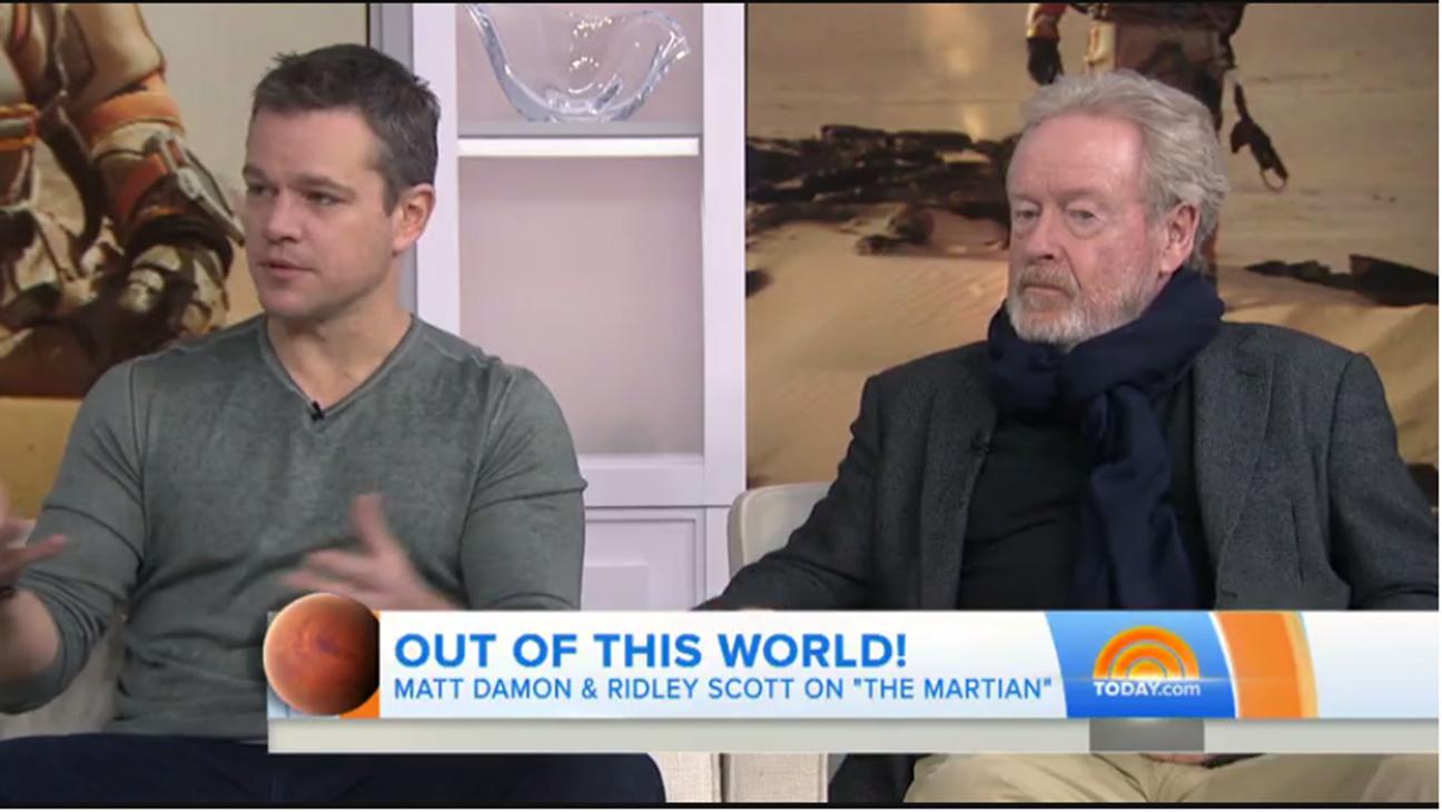 Matt Damon and Ridley Scott reveal how they made 'The Martian' - H 2016