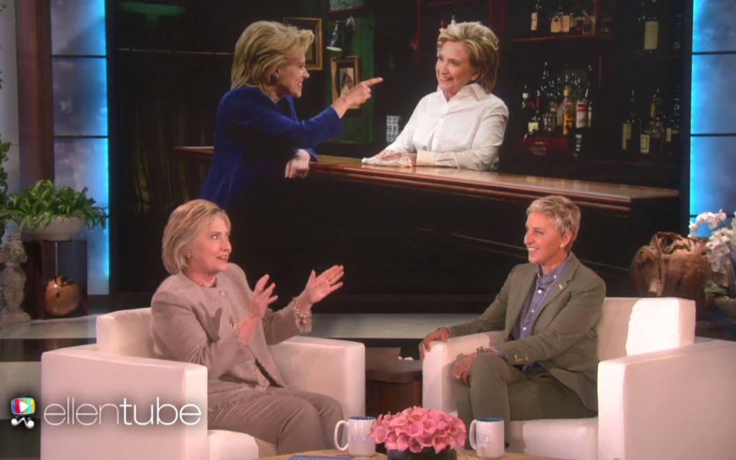 Hillary Clinton and Ellen DeGeneres - H 2016