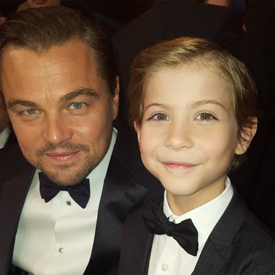 Jacob Tremblay and Leonardo DiCaprio  - S 2016