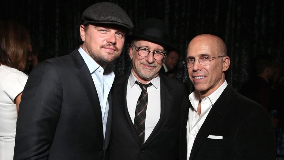 Leonardo DiCaprio, Steven Spielberg and Jeffrey Katzenberg - Getty- H 2016