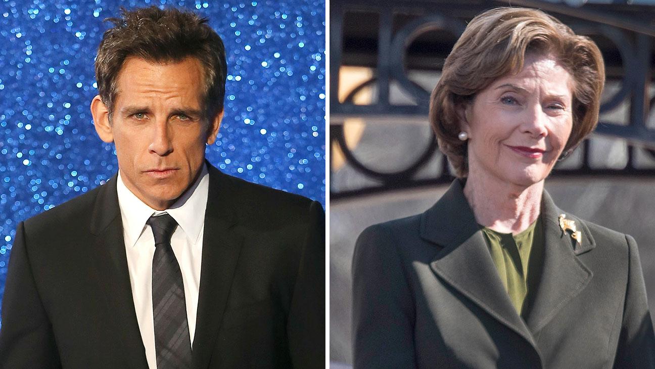 Ben Stiller and Laura Bush Split - H 2016