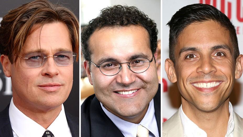 Brad Pitt, Alfredo Quiñones-Hinojosa and Matthew Lopez - Getty - Split - H 2016