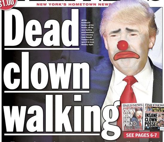 Daily News Trump Clown Cover H 2016