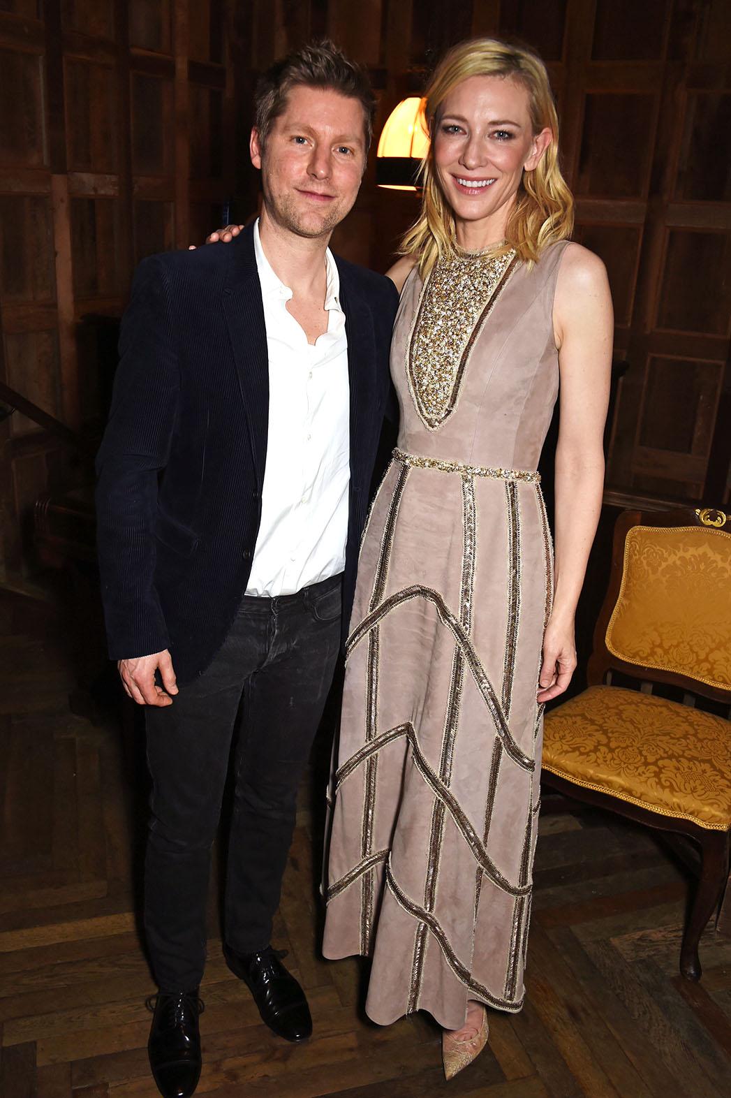Christopher Bailey Cate Blanchett Harvey Weinstein's pre-BAFTA Dinner Burberry - H 2016