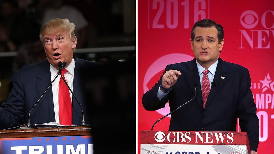 Donald Trump and Ted Cruz Split - H 2016