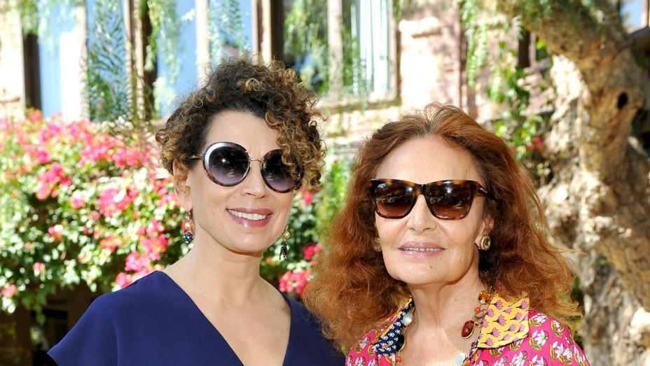 Diane von Furstenberg and Donna Langley - Getty - H 2016