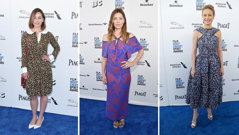 Emilia Clarke, Brie Larson, and Jessica Biel  - H 2016