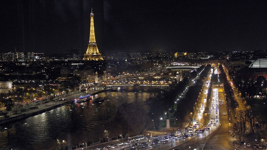 Paris by night with the Eiffel Tower - Getty - H 2016