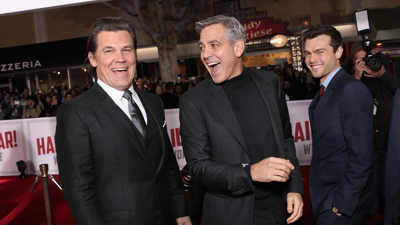 Josh Brolin, George Clooney and Alden Ehrenreich - Hail Caesar premiere - H 2016