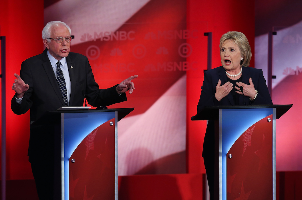 Bernie Sanders Hillary Clinton Feb 4 Debate - H 2016