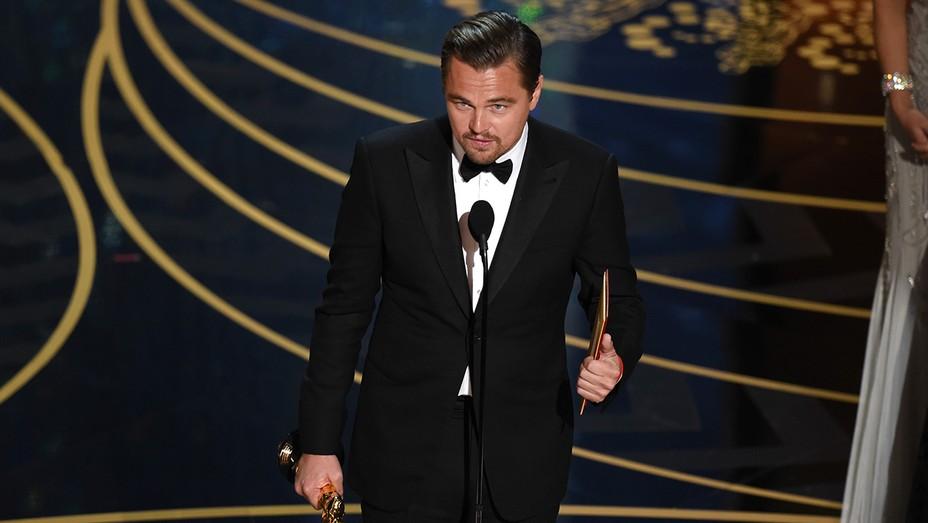 Leonardo Dicaprio accepting award - GETTY - H 2016