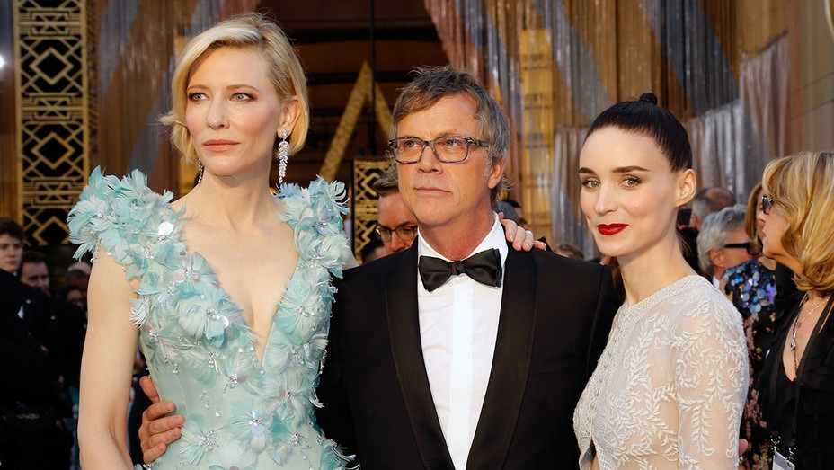 Cate Blanchett and Rooney Mara, with director Todd Haynes GETTY - H 2016
