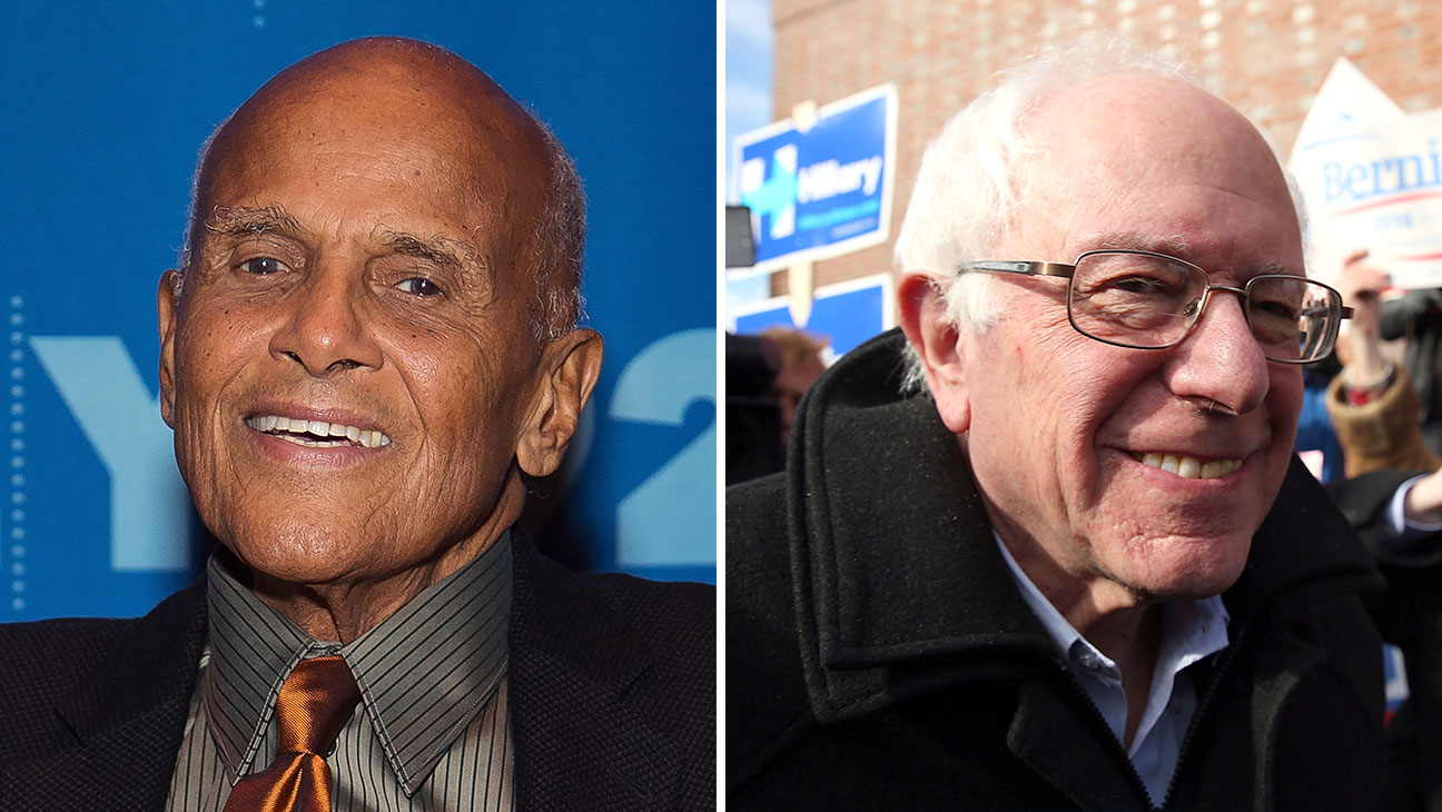 Harry Belafonte and Bernie Sanders Split - H 2016