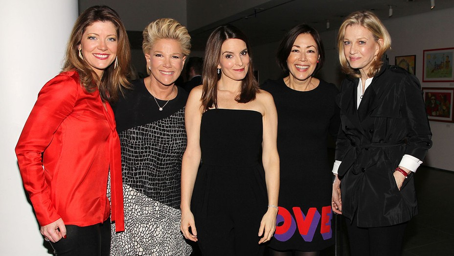 Norah O'Donnell, Joan Lunden, Tina Fey, Ann Curry and Diane Sawyer  - H 2016