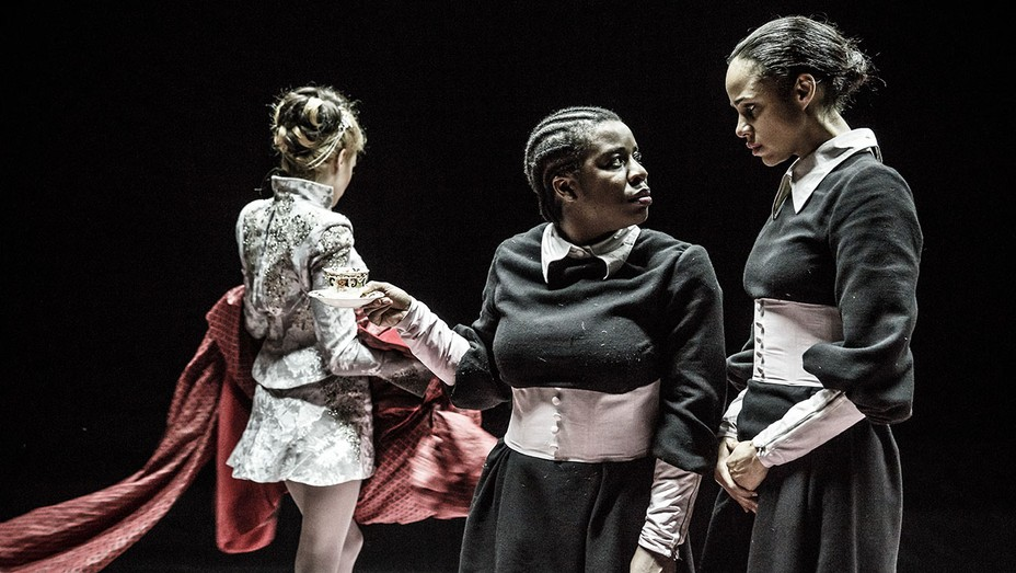 Laura Carmichael, Uzo Aduba and Zawe Ashton in The Maids - H 2016