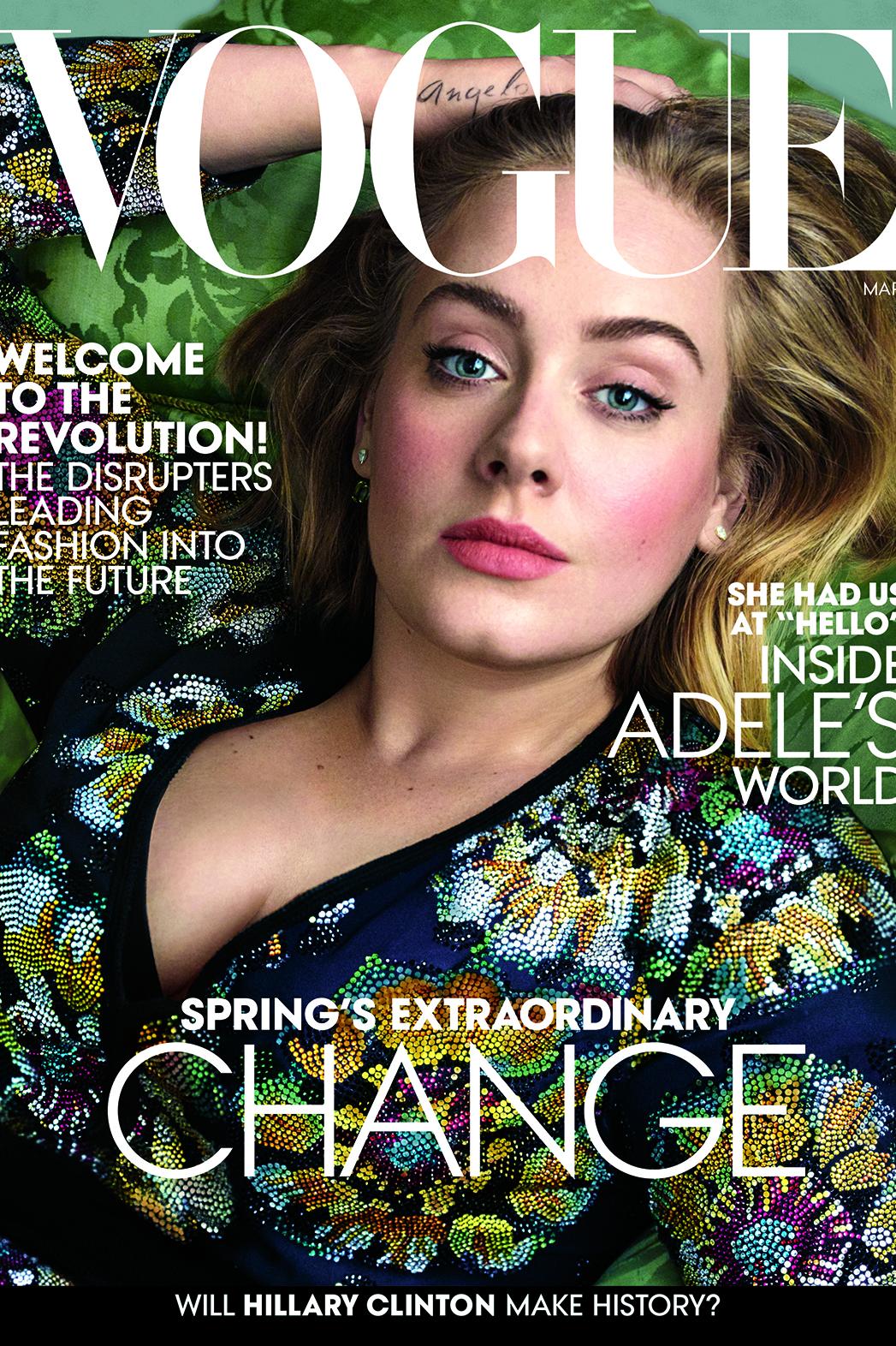 Adele Vogue Cover - P 2016