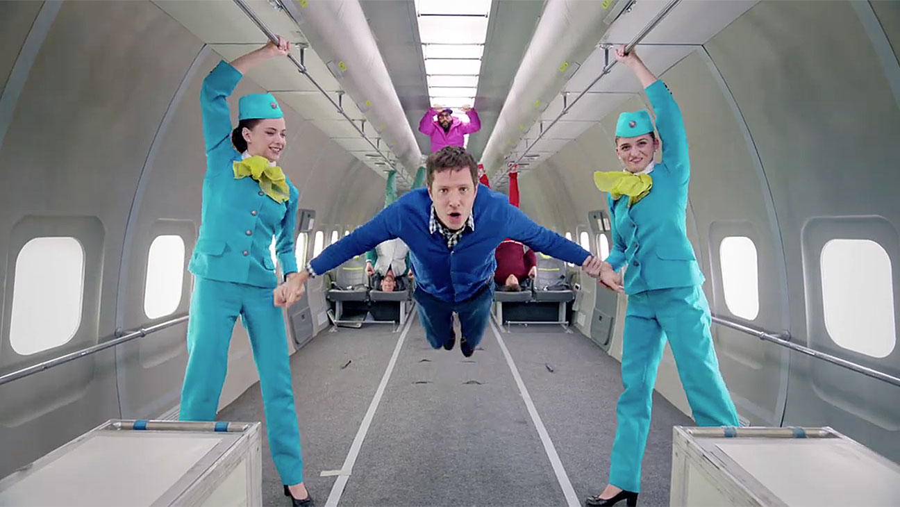 OK Go in the video for Upside Down and Inside Out Screen Shot - H 2016