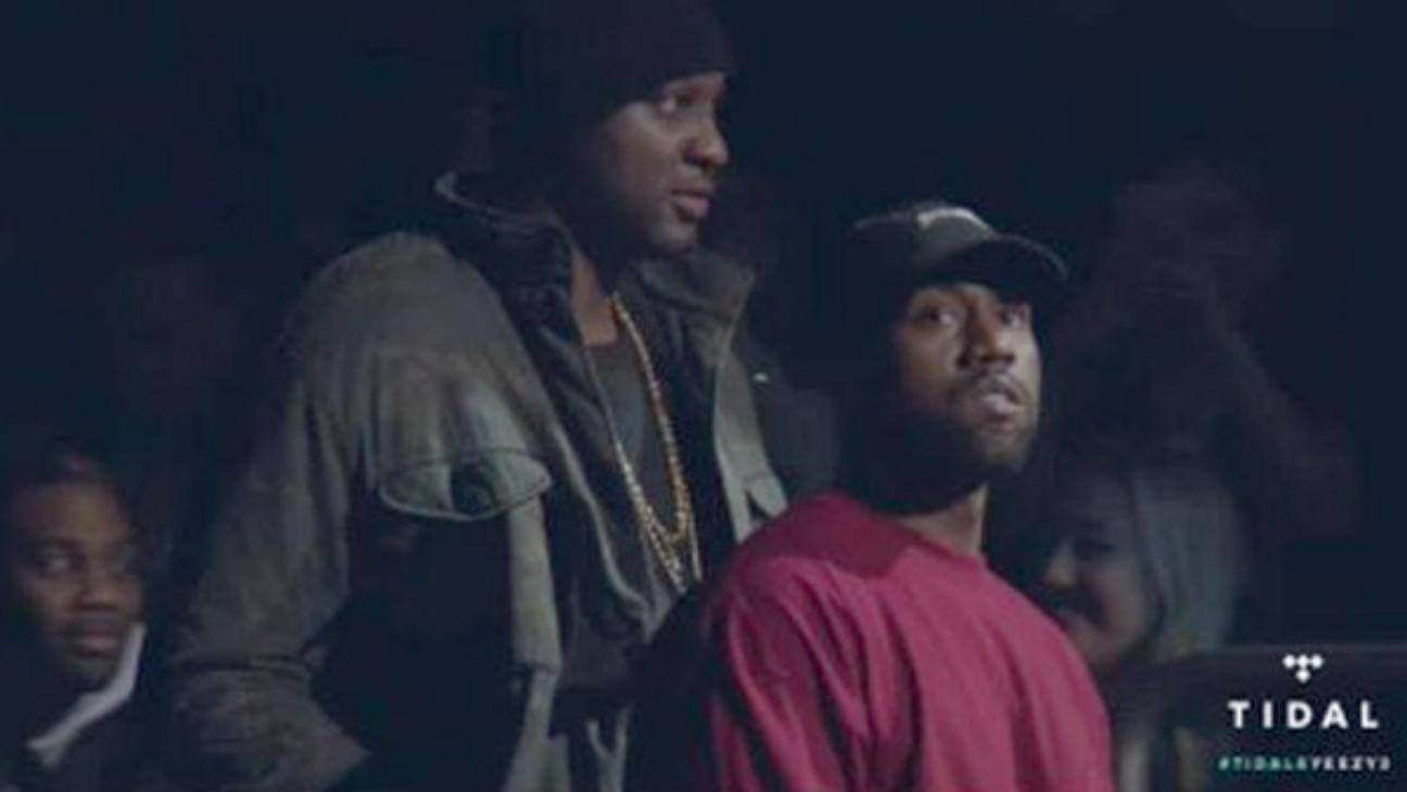 Lamar Odom Kanye NYFW - H
