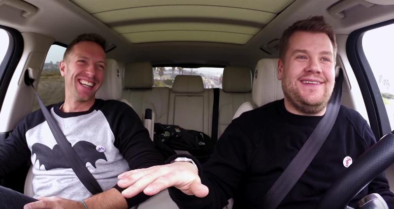 Chris Martin 'Carpool Karaoke' H 2016