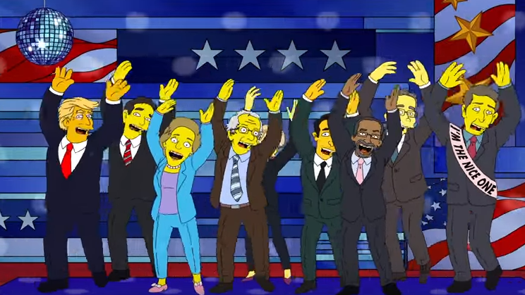 The Simpsons presidential candidates screenshot - H