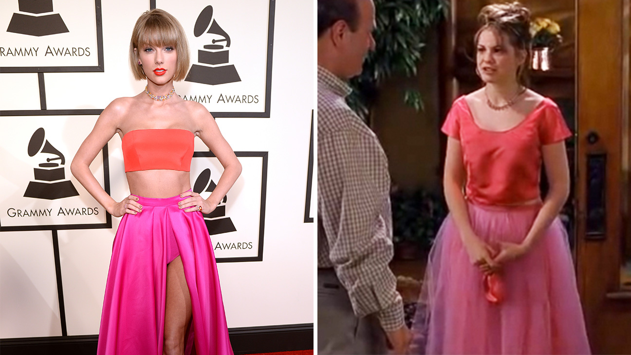 Taylor Swift S Grammys Outfit Looks Like 10 Things I Hate About You Prom Dress Hollywood Reporter