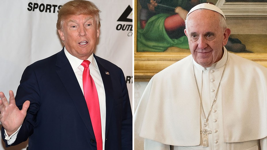 Trump and Pope Francis Split - H 2016