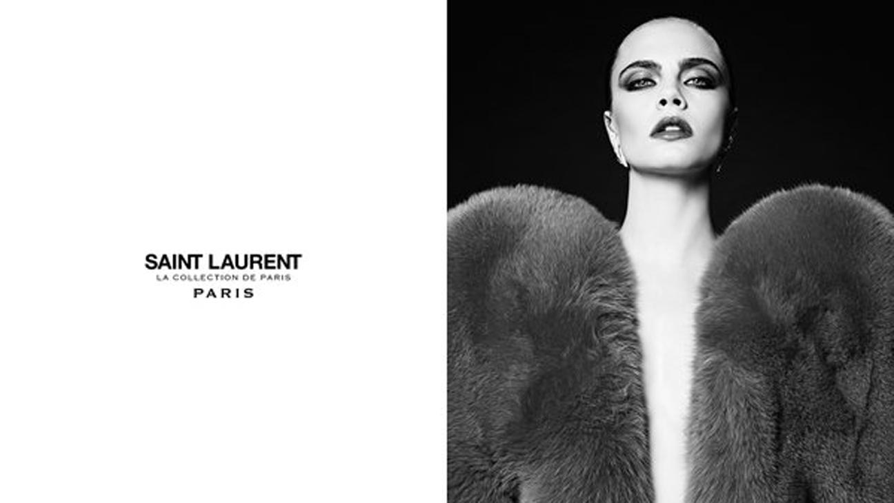 CARA DELEVINGNE  Yves Saint Laurent - H 2016
