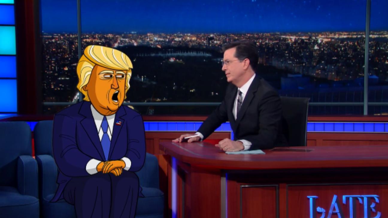 Stephen Colbert Cartoon Trump - H 2016