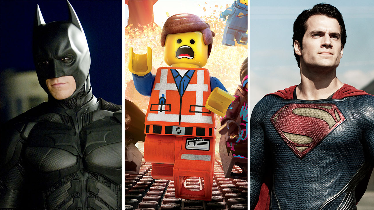 Dark Knight, The Lego Movie and Man of Steel split - H 2016