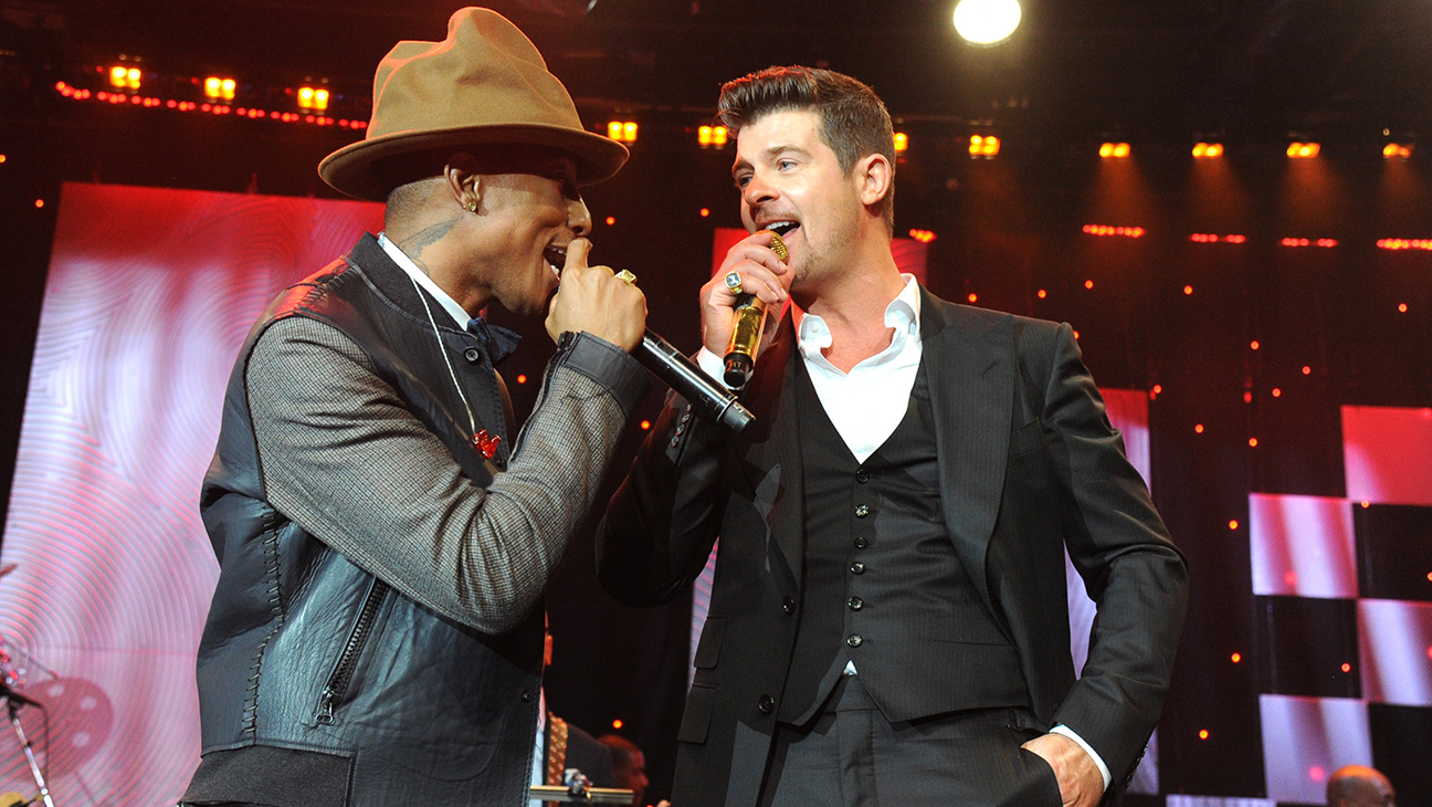 Pharrell Williams with Robin Thicke GETTY - H 2016