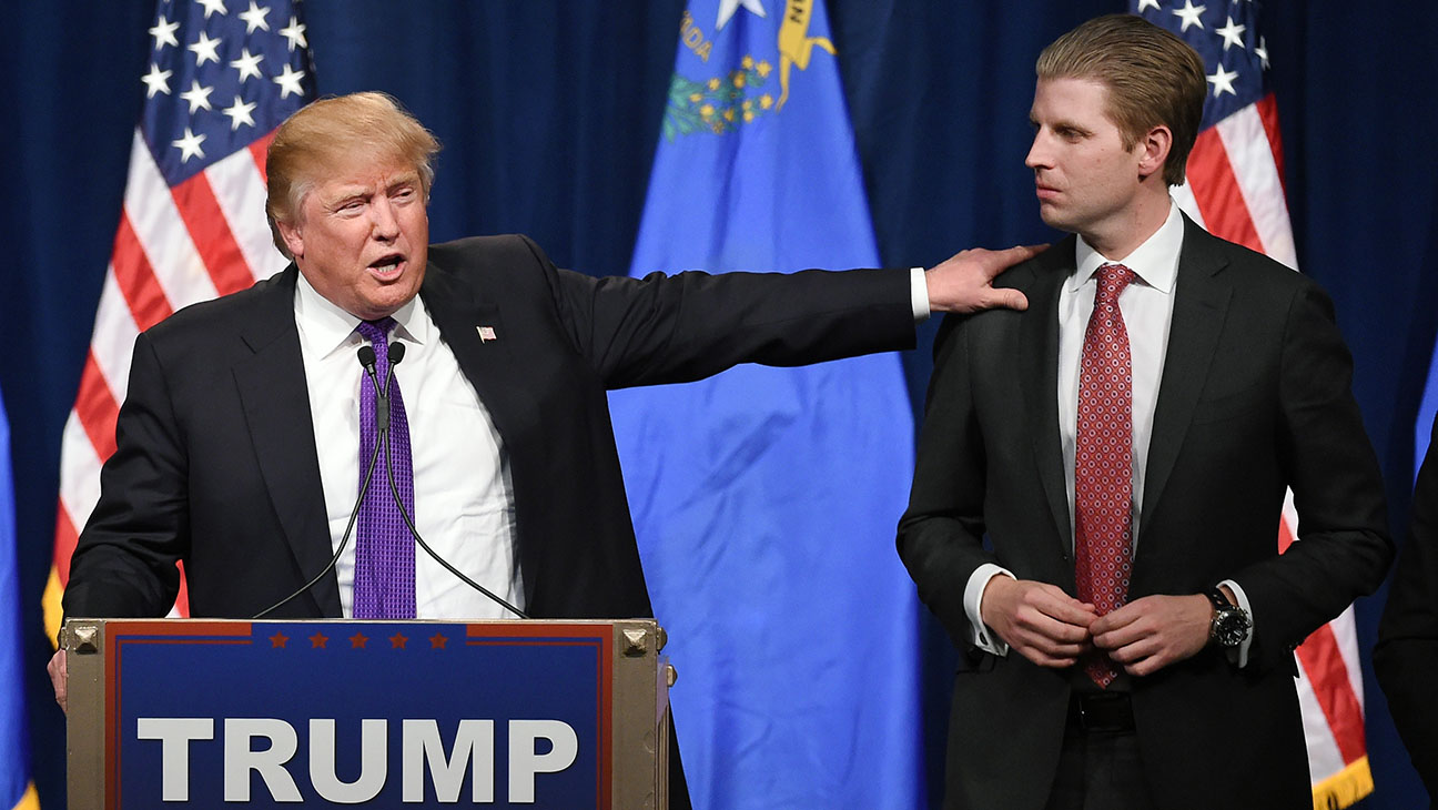 Donald Trump and as his son Eric Trump -Getty-H 2016