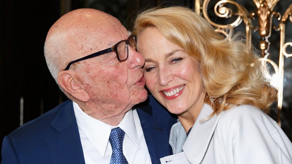 Jerry Hall and Rupert Murdoch  GETTY - H 2016