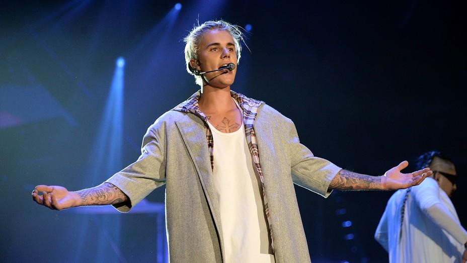 Justin Bieber performs onstage at KeyArena -Getty - H 2016